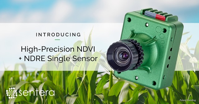 Sentera's new High-Precision NDVI Single and High-Precision NDRE Single utilize patent-pending technology to improve spectral band separation and generate more accurate vegetation index measurements