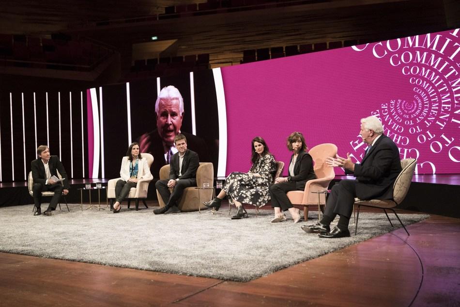 CFS17:  Marie-Claire Daveu, Jason Kibbey, Anna Gedda, Kelly Caruso, Rick Darling, Thomas Tochterman (PRNewsfoto/Global Fashion Agenda)