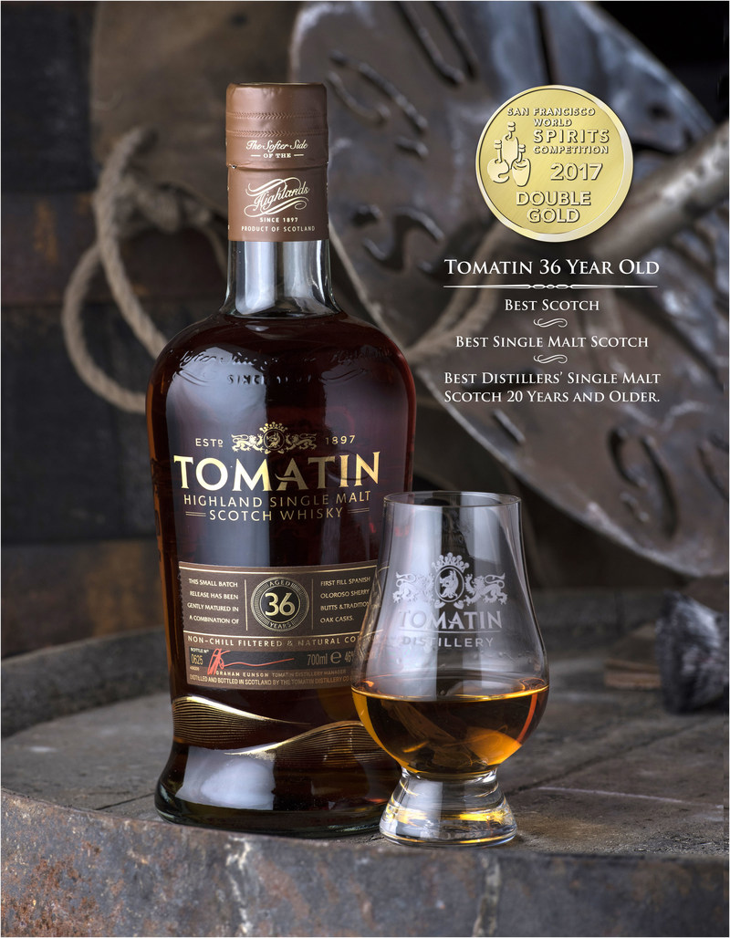 Phillips Distilling Co.'s Tomatin takes top honors at the San Francisco World Spirits Competition