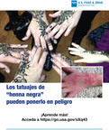 Los tatuajes de henna negra pueden ponerlo en peligro