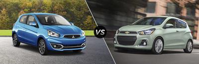 Brooklyn Mitsubishi offers comparisons of Mirage hatchback model