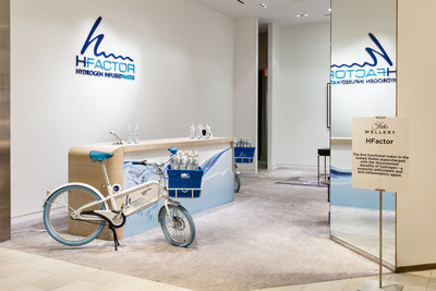 HFactor Hydrogen-Infused Water Debuts at Saks Fifth Avenue's New York Flagship (Justin Bridges for Saks Fifth Avenue)