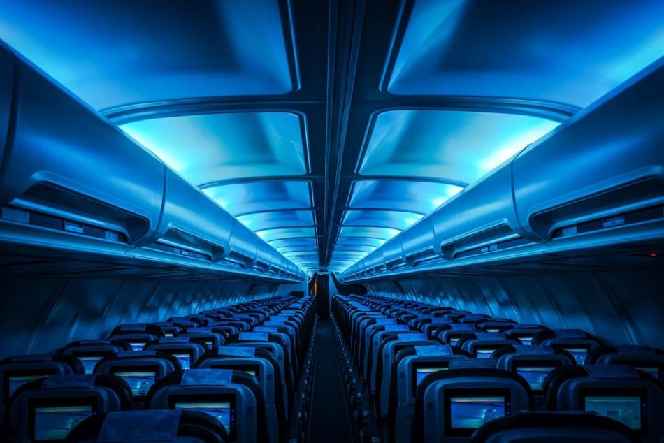 Icelandair Vatnajokull plane interior (PRNewsfoto/Icelandair)