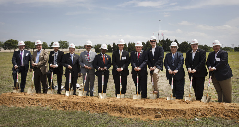 Left to Right:  Mike Kennedy: Partner, Altera Development; Tim Litinas: AEDC Board Member; Dan Bowman: CEO/Executive Director, AEDC; Ross Obermeyer: City Council Member; Michael Schafer: AEDC Board President; Baine Brooks: City Council; Greg Durrer, Marriott Intl-Global Brand Leader; Stephen Terrell, City of Allen Mayor; Joey Herald, AEDC Board and City Council; Peter Vargas; City Manager- Allen; Gary Caplinger: Mayor Pro Tem – Allen; Terry Quinn: CEO, Altera Development.