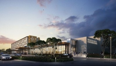 Rendering of new Delta by Marriott Hotel and Watters Creek Convention Center in Allen, Texas (PRNewsfoto/Allen Economic Development Corp)