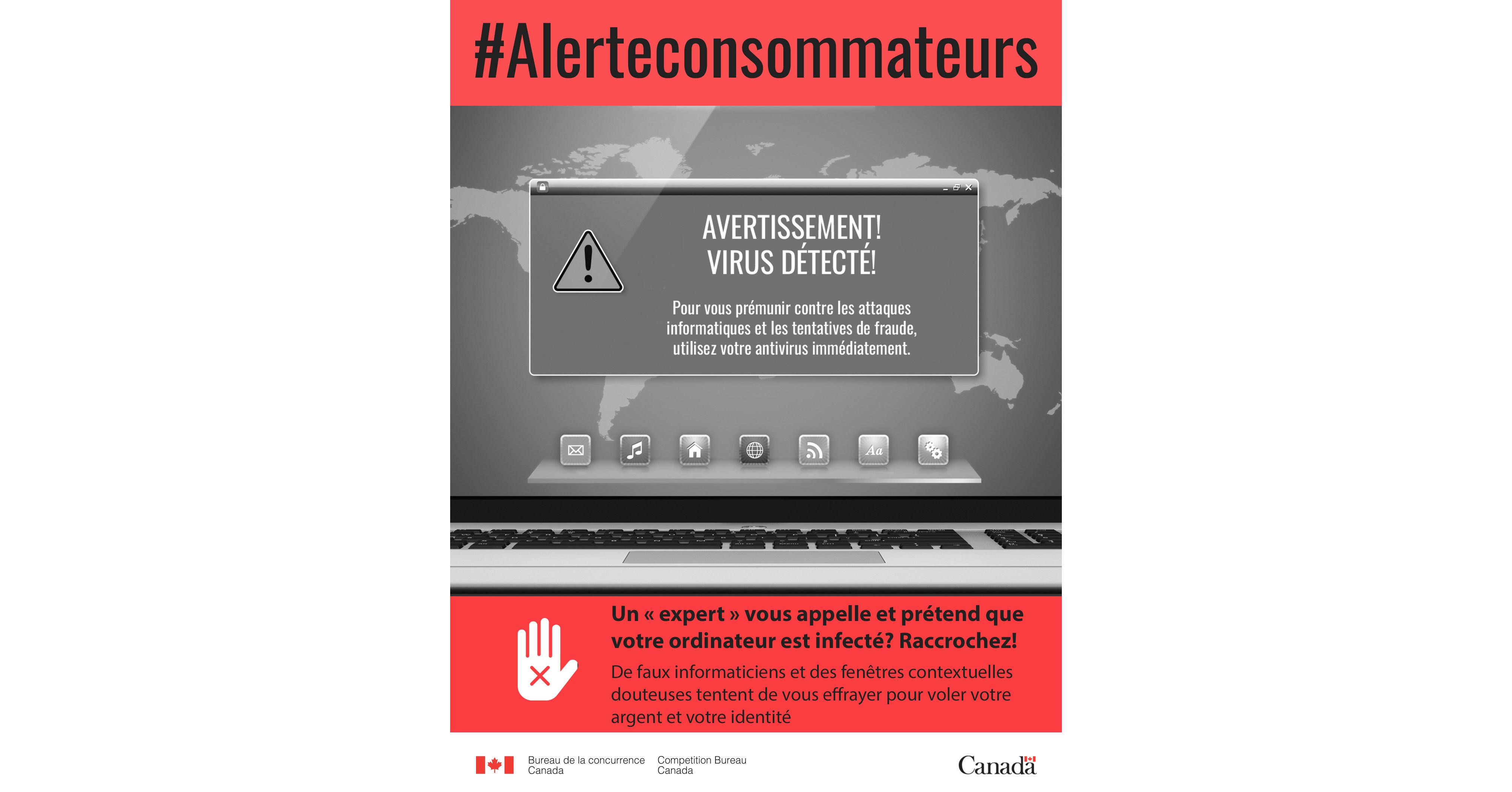 alerte aux consommateurs un expert vous appelle et pr tend que votre ordinateur est infect. Black Bedroom Furniture Sets. Home Design Ideas