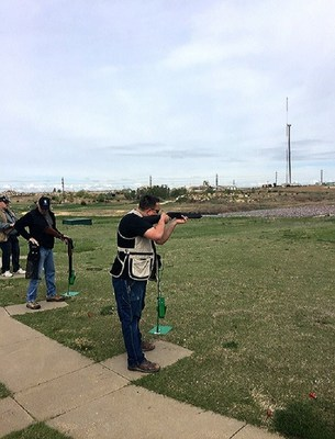 Wounded Warrior Project veterans took aim at making new connections and sharing experiences during a recent trap-shooting event.  The group competed for gold, silver, and bronze coins while shooting at clay pigeons, but Sean said the real prize was getting out of the house and connecting with fellow service members.