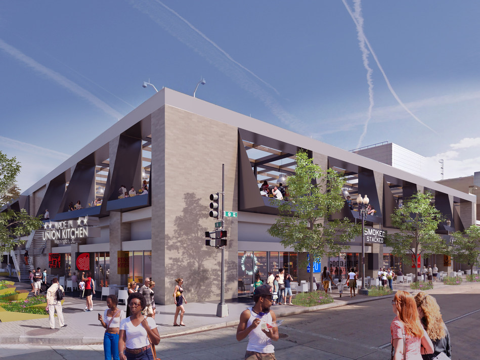 One portion of the proposed Streetscape development to utilize the retail space surrounding the Walter E. Washington Convention Center.