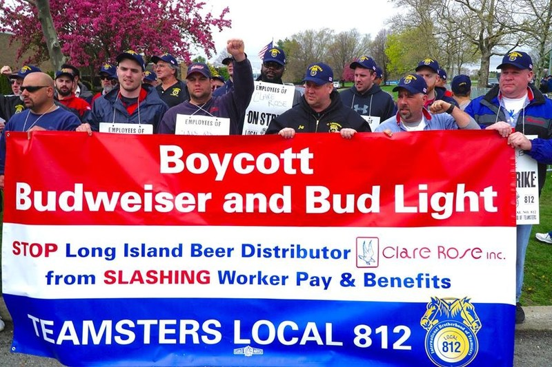 Teamsters strike Clare Rose after company plans to cut wages by 30 percent and eliminate pension for workers.