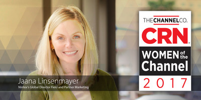 Nintex's Global Director Field and Partner Marketing recognized on the 2017 CRN Women of the Channel List.