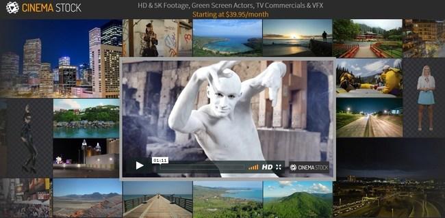 CinemaStock website