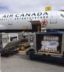 Empty sandbags departing from Calgary (CNW Group/Air Canada)