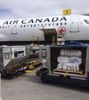 Sacs de sable vide au départ de Calgary (Groupe CNW/Air Canada)