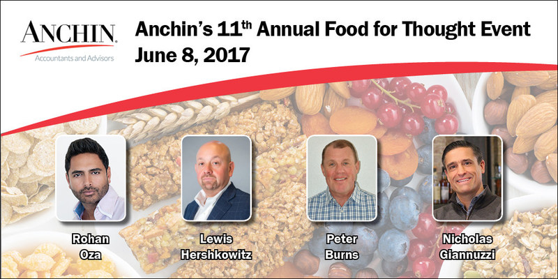 Industry leaders to speak on Anchin's 11th Annual Food For Thought Panel