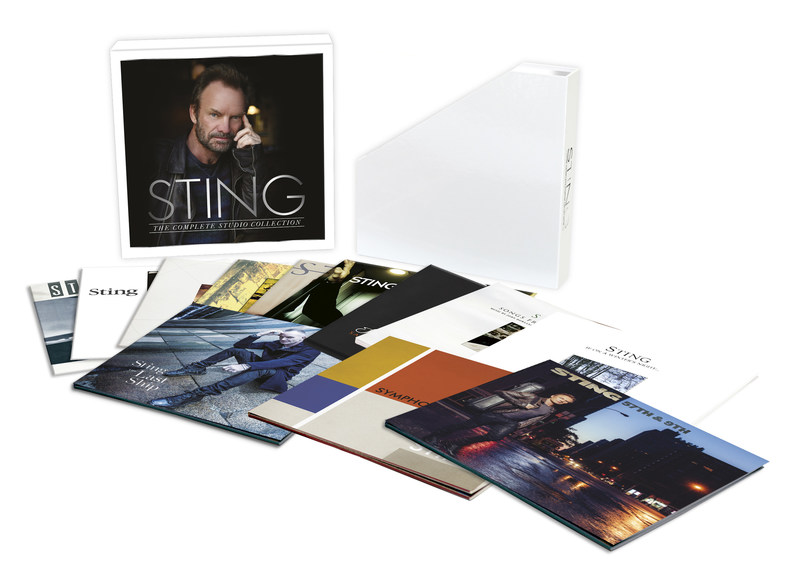 STING: THE COMPLETE STUDIO COLLECTION - FULL SOLO CAREER-SPANNING VINYL BOX SET TO BE RELEASED JUNE 9TH