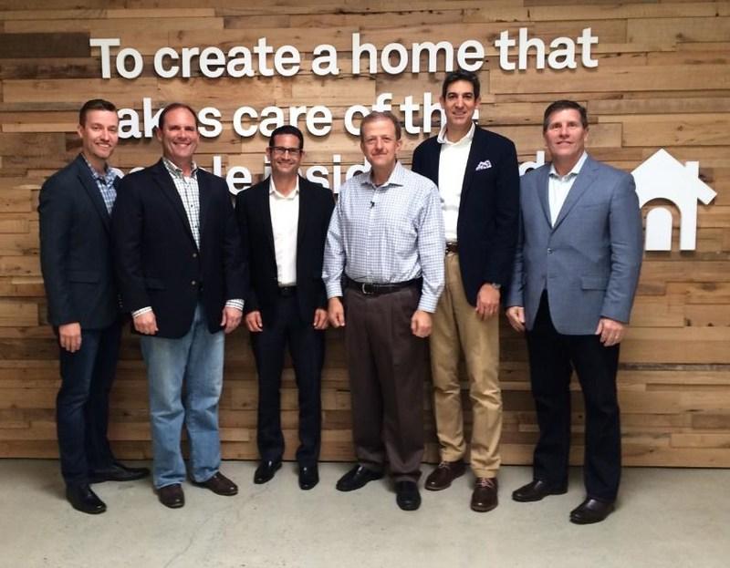 ARS Leadership Team Visits Nest Headquarters to Announce National Partnership: Chris Mellon, CMO & SVP (ARS); Dave Slott, CEO (ARS); Luis Orbegoso, President & COO (ARS); Marwan Fawaz, CEO (Nest); Peter Simpson, Digital Director (ARS); Jim McMahon, CFO (ARS)