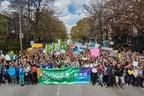 Plus de 5000 jeunes ont participé à la Marche Monde d'Oxfam-Québec pour la solidarité internationale. Photo : Ulysse Lemerise (Groupe CNW/OXFAM-QUEBEC)