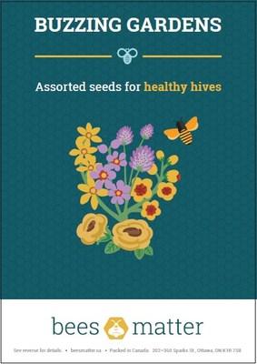 La Semaine nationale des semis aura lieu du 5 au 12 juin, et Précieuses abeilles offre gratuitement en ligne des trousses de semences Jardins bourdonnants (Groupe CNW/Bees Matter)