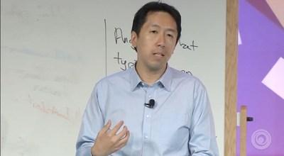 Andrew Ng at the Keynote session