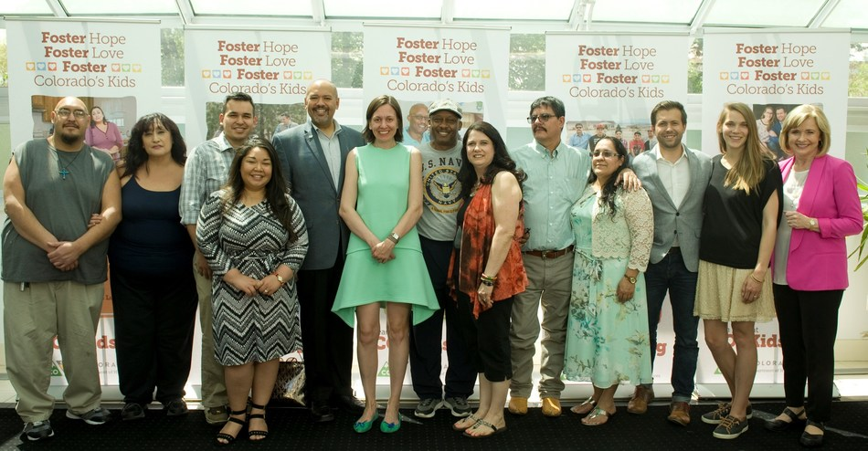 First Lady Robin Hickenlooper recognizes five outstanding foster families as part of National Foster Care Month.