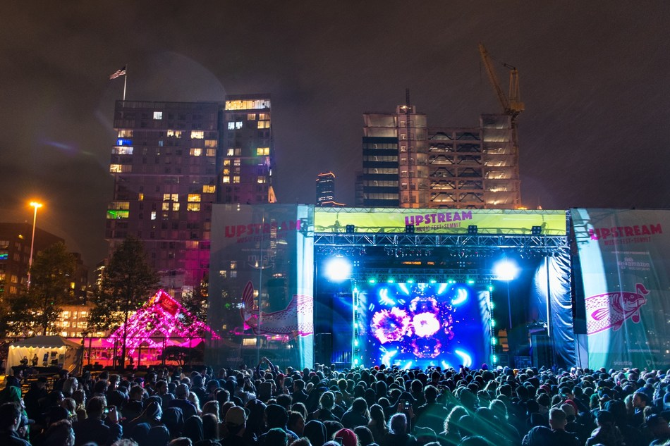 Flying Lotus performs on the Main Stage at the inaugural Upstream Music Fest + Summit in Seattle on May 13, 2017. Photo credit: Rob Mar | Visit www.UpstreamMusicFest.com for more information.