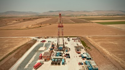Zion Oil & Gas Derrick Raised on May 14, 2017