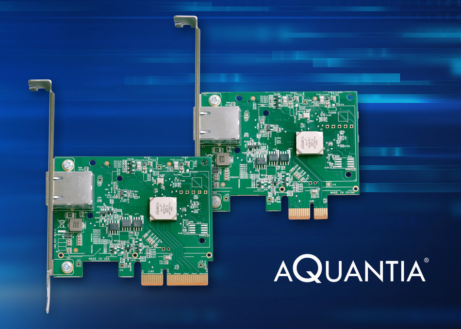 Aquantia AQtion NICs - Introducing 2.5G/5G/10G Multi-Gig Ethernet Rates for Performance PCs and Workstations (PRNewsfoto/Aquantia Corp.)