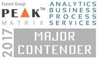 BRIDGEi2i Analytics Solutions named as Strong Contender in Everest Group's Analytics BPS Peak Matrix 2017 (PRNewsfoto/BRIDGEi2i Analytics Solutions)