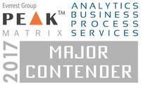 BRIDGEi2i Analytics Solutions named as Strong Contender in Everest Group's Analytics BPS Peak Matrix 2017 (PRNewsfoto/BRIDGEi2i Analytics Solutions)