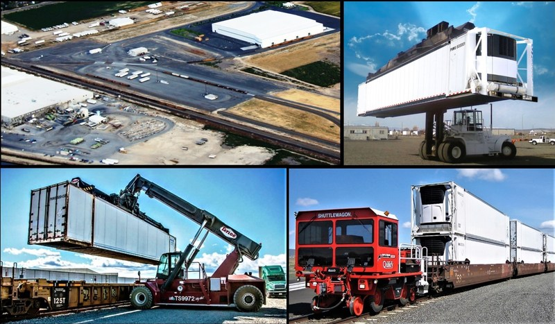Port of Quincy Intermodal Photo Collage