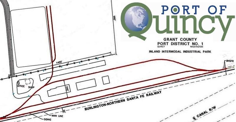 Diagram of Port of Quincy Intermodal Terminal