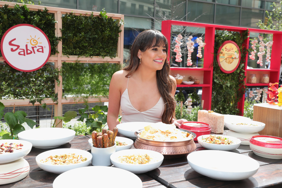 Lea Michele Shares an Unofficial Meal with Sabra Hummus