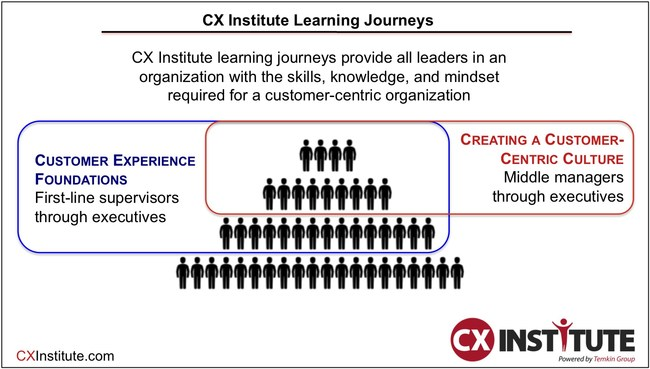 CX Institute's online training focuses on all levels of leaders across an organization (CXInstitute.com)