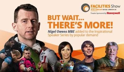 Additional inspirational speaker Nigel Owens joins Facilities Show 2017 (PRNewsfoto/Facilities Show)