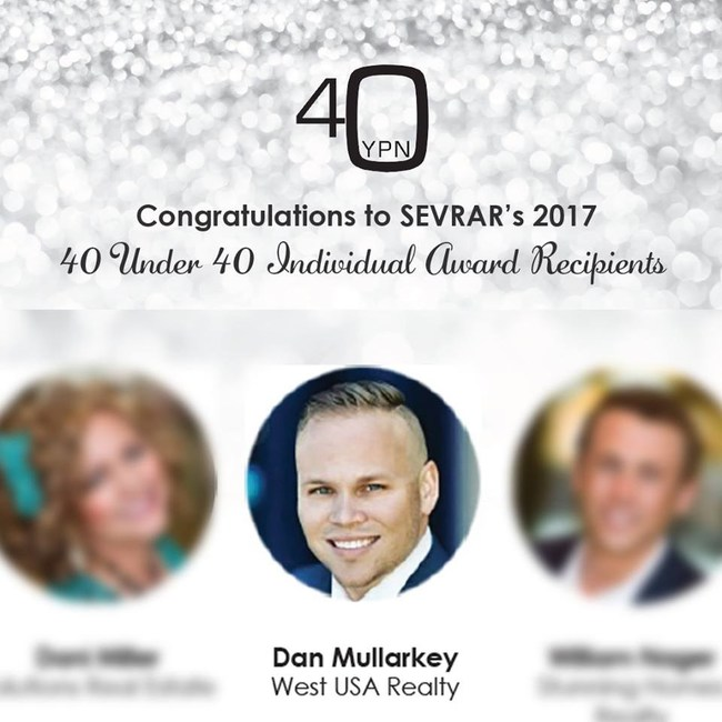 Dan Mullarkey, Associate Broker at West USA Realty, Honored by SEVRAR's 40 Under 40