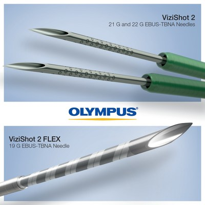 Olympus announces new ViziShot 2 single-use aspiration needles, expanding the device portfolio for Endobronchial Ultrasound Transbronchial Needle Aspiration (EBUS-TBNA), a minimally invasive alternative to a surgical procedure and considered the gold standard for lung cancer staging.  The new needles will expand the line of devices from Olympus, offering improved access, usability and puncture of difficult-to-access lymph node targets.