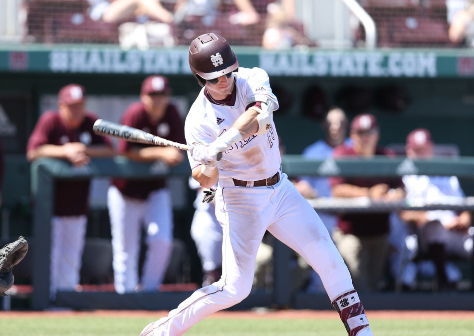 Mississippi State outfielder Brent Rooker, who leads all of Division 1 college baseball in slugging percentage and is in the top 10 of most major statistical categories, including home runs, RBIs and hits, is one of five finalists for the 2017 C Spire Ferriss Trophy, which annually goes to the state's top college baseball player. - photo courtesy of Mississippi State Athletics