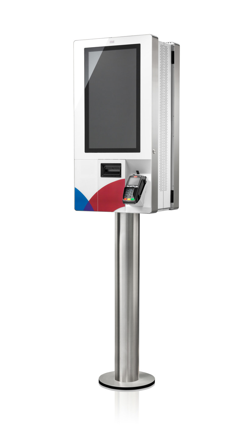 The new K-Two Kiosk from Diebold Nixdorf.
