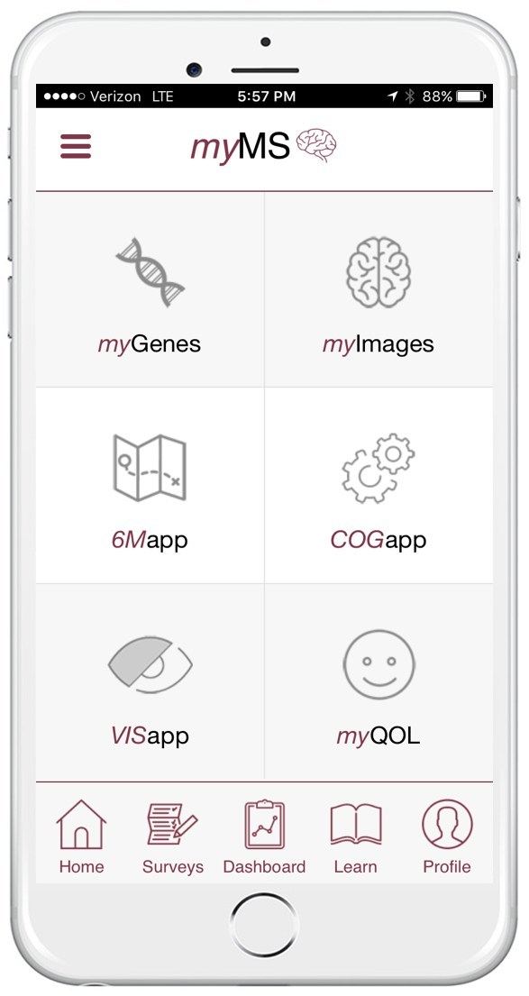 myMS is the world's first smartphone app capable of collecting large amounts of clinical, imaging and genetic data for people with multiple sclerosis.
