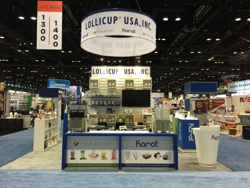 Lollicup USA showcasing products at last year's NRA Show.