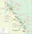Figure 1 : Carte des trous de forage et faits saillants des résultats d'analyse de 2017 de Saramacca (Groupe CNW/IAMGOLD Corporation)