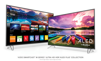 All-New VIZIO SmartCast M-Series Ultra HD HDR XLED Plus Display Collection Debuts in Canada, Pushing the Boundaries of Picture Quality with Ultra Color Spectrum Performance.  Latest Lineup Features Enhanced Smart TV User Experience with SmartCast Mobile Available Now and VIZIO SmartCast TV Coming Summer 2017