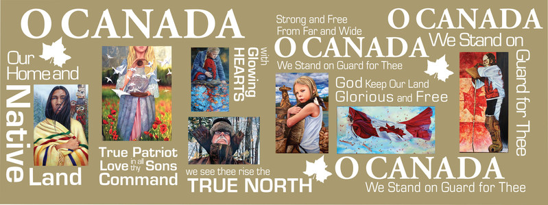 O Canada, our national anthem displayed in a collection of seven breathtaking paintings touching on all things Canadian. (CNW Group/Sandra MacGillivray Canadian Artist)
