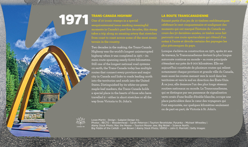 Back cover of the Official First Day Cover (CNW Group/Canada Post)