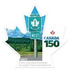 Le cinquième timbre Canada 150 célèbre la route Transcanadienne (Groupe CNW/Postes Canada)
