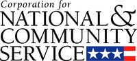 Corporation for National and Community Service (CNCS) logo.