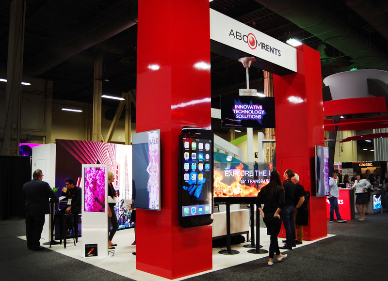 ABCOMRENTS Booth of Technology Rentals at ExhibitorLive 2017