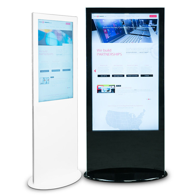 """The Featured New Product Showcase Kiosks: 40"""" and 58"""" Innovate 4K Digital Kiosk"""