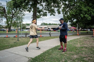 Wounded Warrior Project proudly connected with the community during the 13th annual Pat's Run by volunteering to encourage the runners while handing out water, keepsakes, and other WWP information to all veterans.