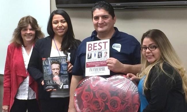 Janet Downey, RUSD, Creative Brain Staff Prescilla Lopez, Ralph Hernandez and Carissa Sanchez.